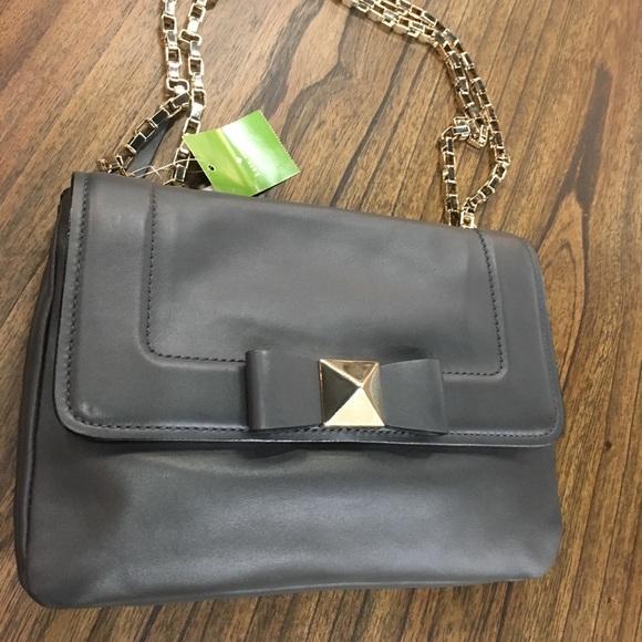 kate spade Handbags - Kate Spade Bow Terrace Justine Gray Gold Bag